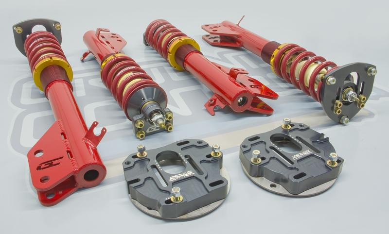 Complete Coilover Conversion kit, 02-07 Subaru WRX & STi (with rear camber plates)