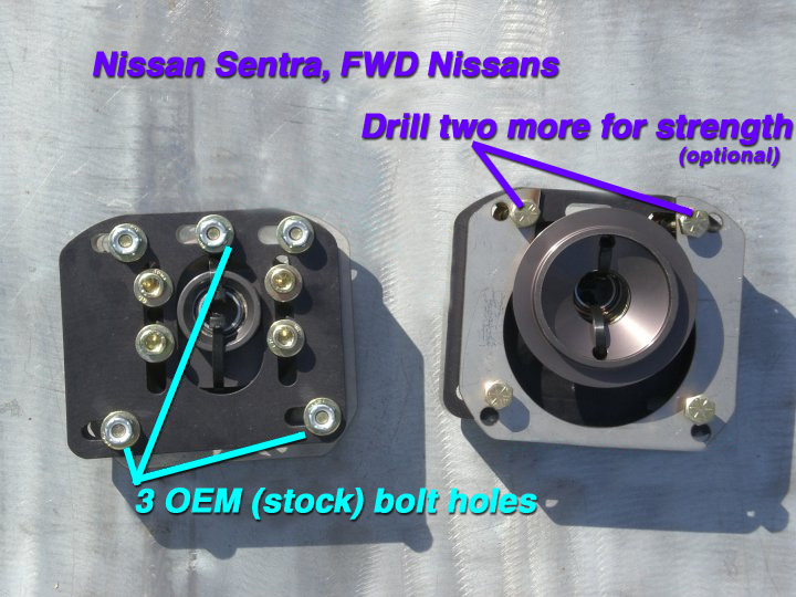 Top Mount Camber/Caster Plate - Sentra/NX/200SX (Pair)